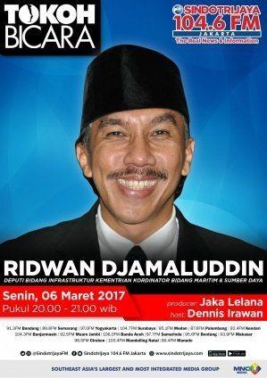 Talkshow TOKOH BICARA : Deputi Bidang Koordinasi Infrastruktur Ridwan Djamaluddin