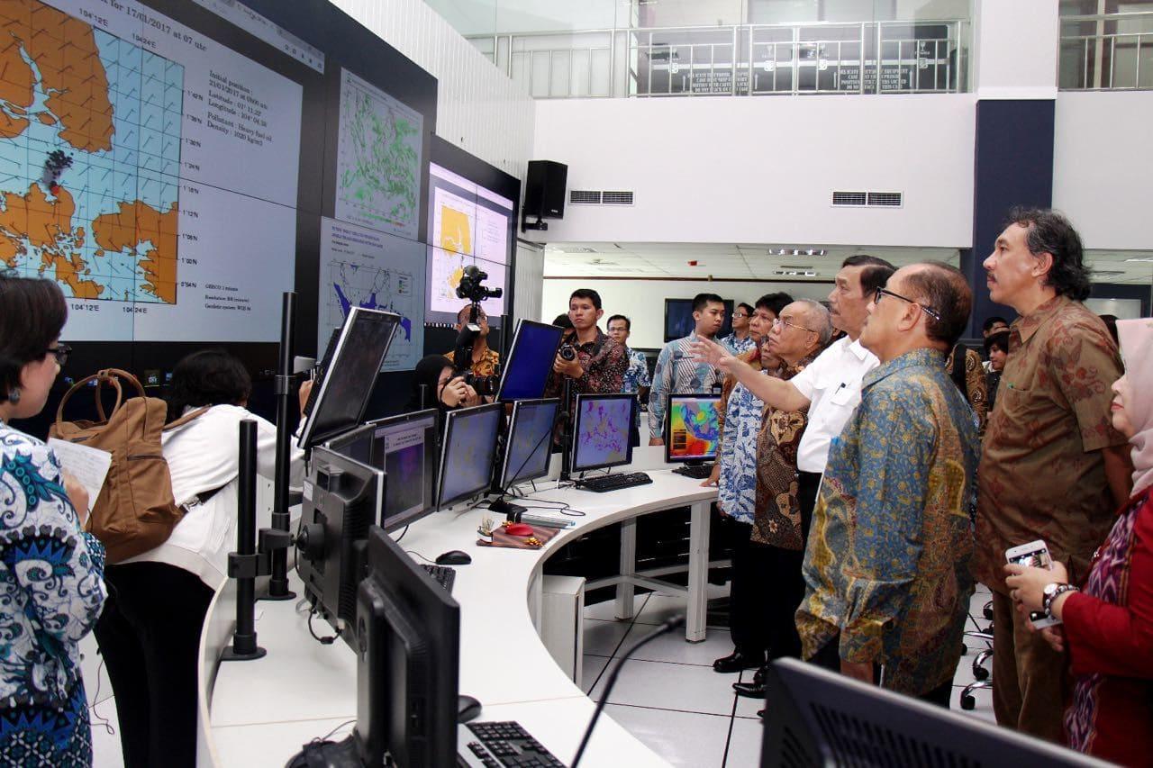 Kunker Menko Luhut ke Kantor BMKG Pusat sekaligus launching aplikasi BMKG-OFS (Ocean Forecast System)