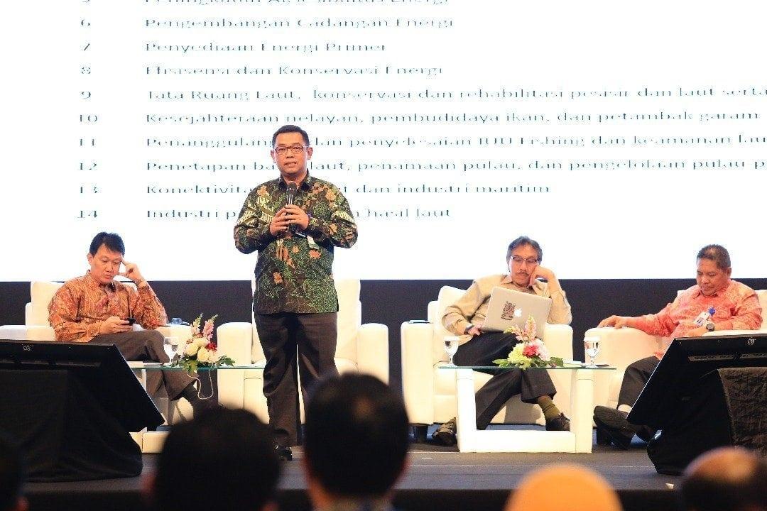 Deputi Agung Jabarkan Program Kerja Mengenai SDA dan Jasa di Rakornas Kemaritiman 2017