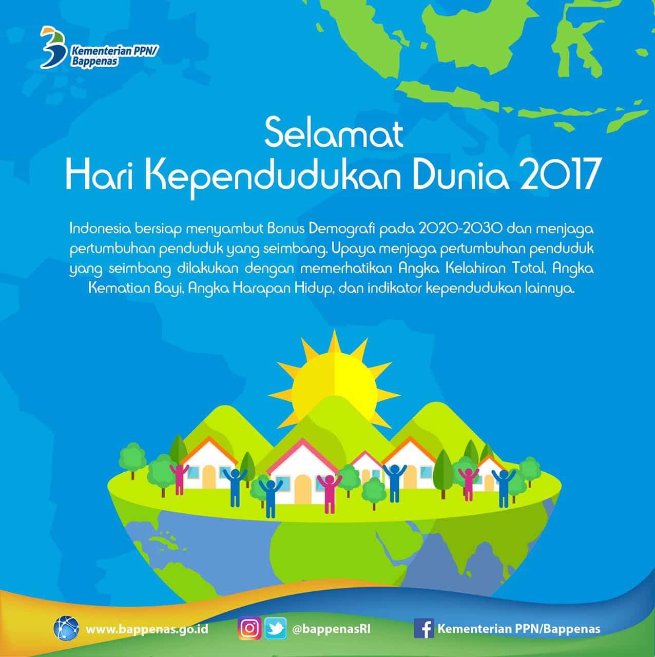 HARI KEPENDUDUKAN DUNIA 2017: MASA DEPAN DEMOGRAFI INDONESIA DAN KESEIMBANGAN PERTUMBUHAN PENDUDUK