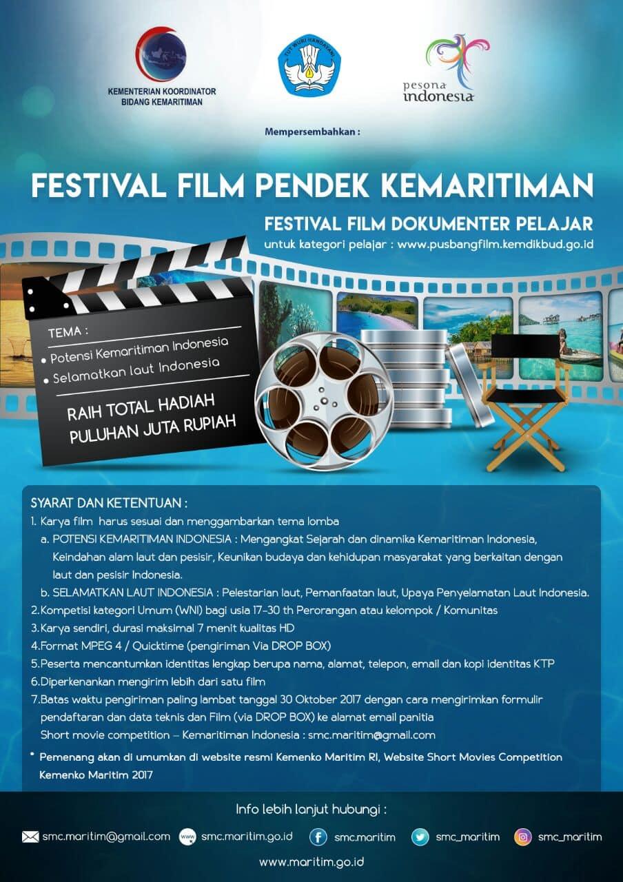 Pengumuman Pendaftaran Festival Film Pendek Kemaritiman 2017