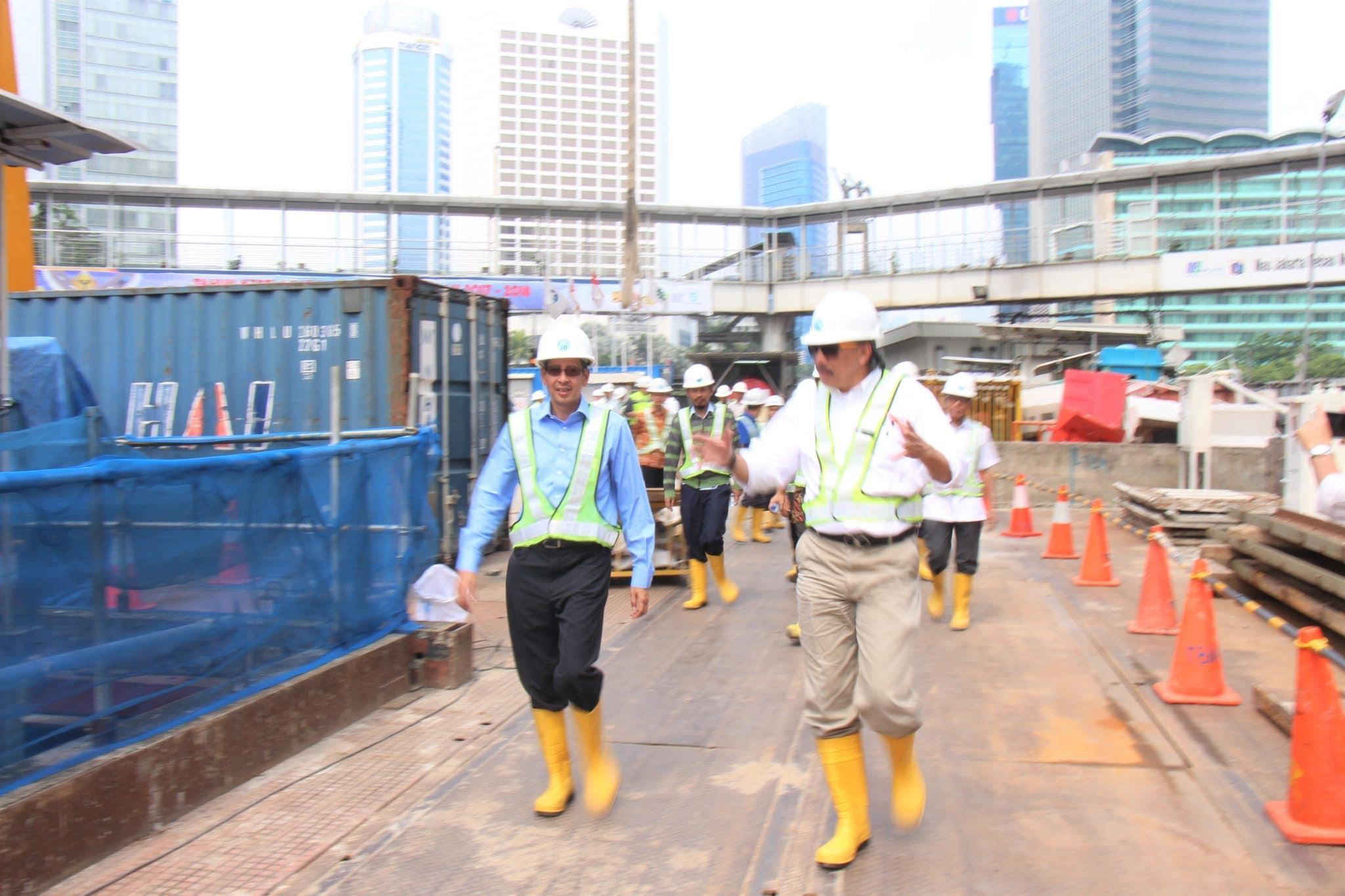 Deputi Ridwan Kunjungi Pembangunan Proyek MRT Jakarta