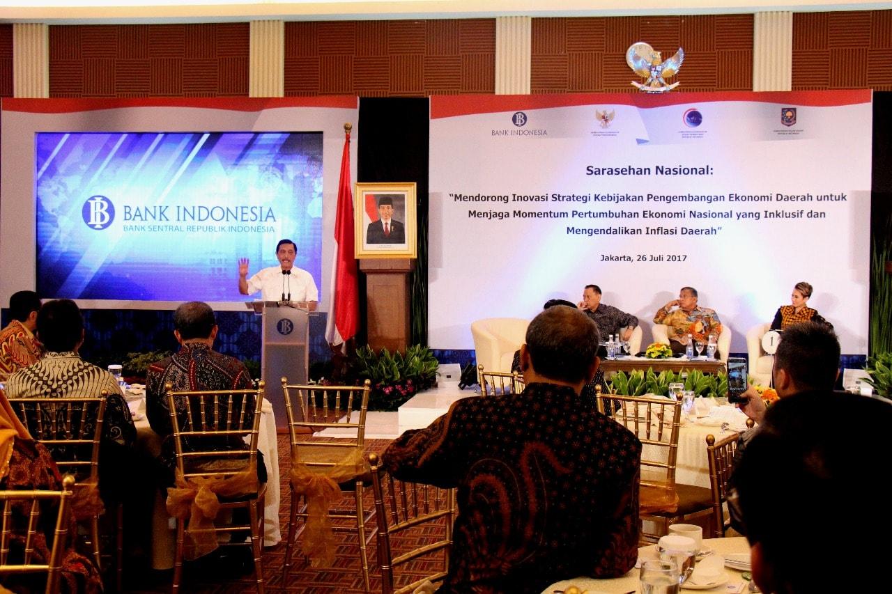 Menko Luhut Hadiri Sarasehan Nasional di Gedung Bank Indonesia