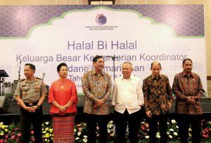 Menko Luhut B Pandjaitan Hadiri Halalbihalal Keluarga Besar Kementerian Koordinator Bidang Kemaritiman