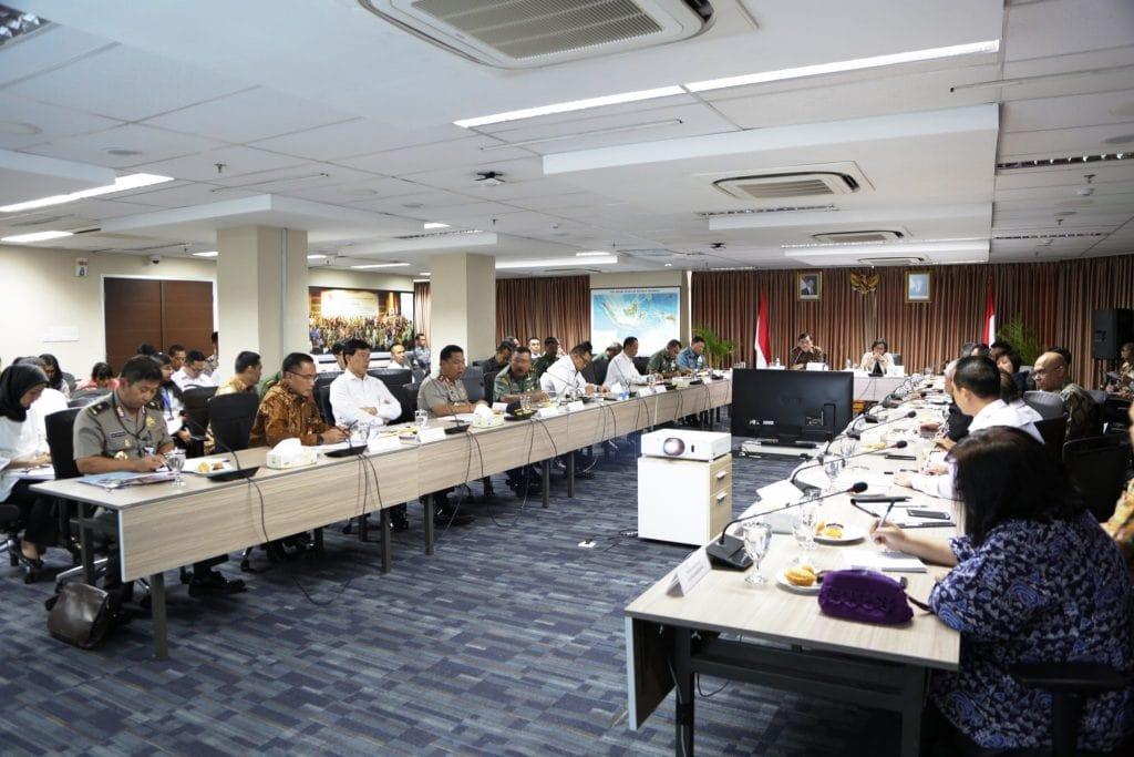 Menko Luhut Pimpin Rakor Security and Evacuation Plan Annual Meeting IMF-WB
