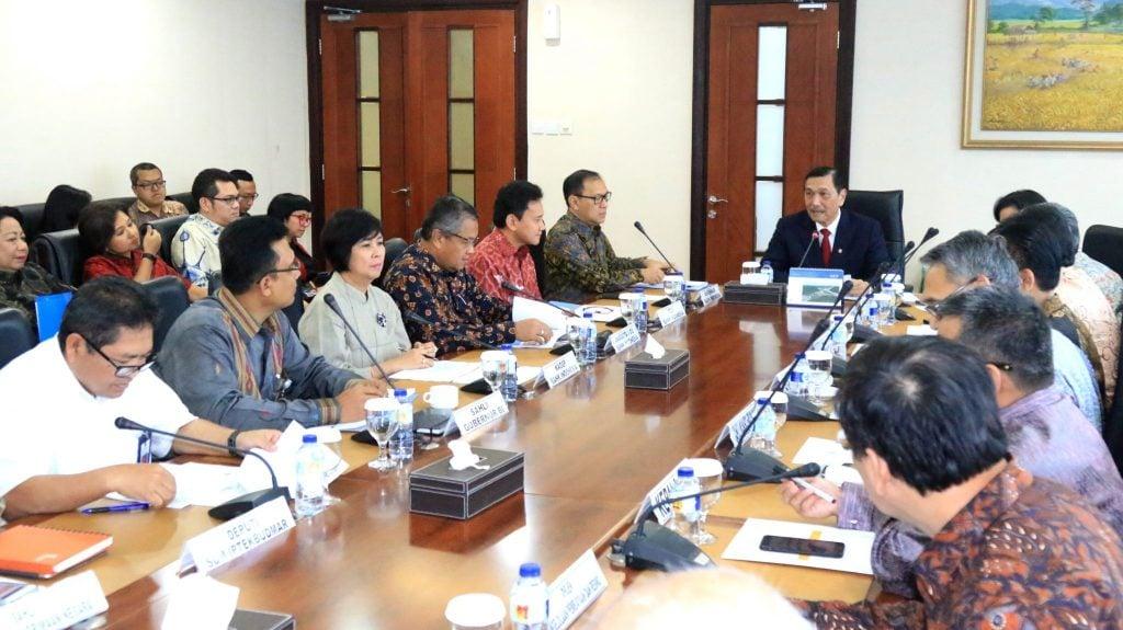 Menko Luhut pimpin Rapat Koordinasi Panitia Nasional dan Peresmian Sekretariat Panitia Nasional AM IMF-WB 2018