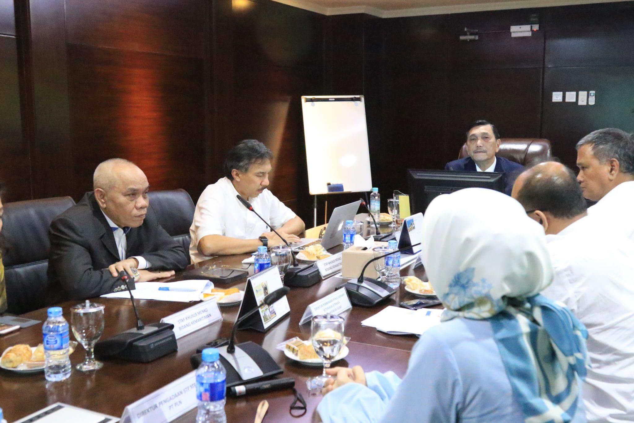 Menko Luhut pimpin Rapat Tindak Lanjut Kerjasama Indonesia-Singapore tentang Suplai Gas (LNG) untuk Tenaga Listrik