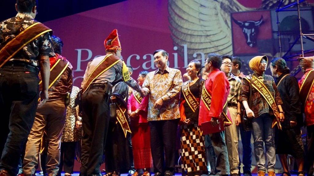 Menko Luhut Hadiri Pagelaran Pancasila Gemilang di JCC