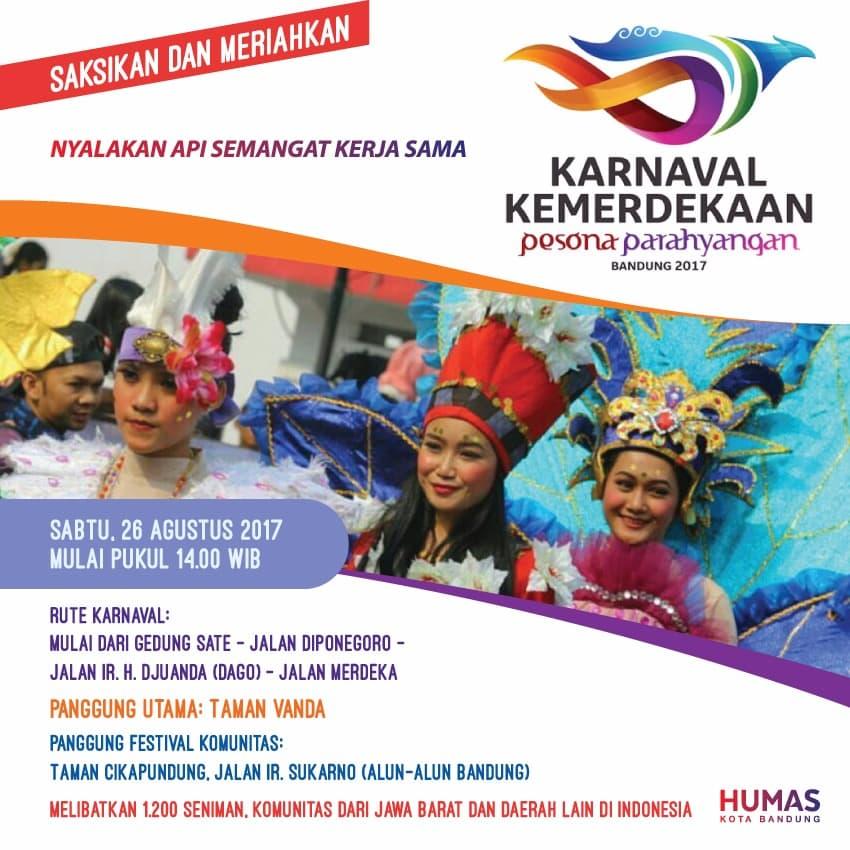 Jam 2 Siang, Karnaval Pesona Parahyangan Jadikan Bandung Lautan Manusia