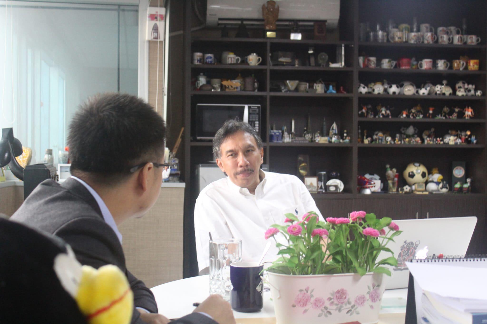 Wawancara Deputi Bidang Infrastruktur Ridwan Djamaluddin dengan Xinhua News Agency