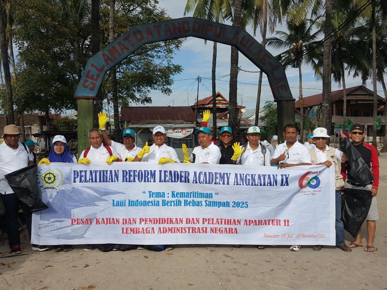 Reform Leader Akademi (RLA) Angkatan IX 2017, Edukasi dan Aksi Wujudkan Laut Indonesia Bersih, Bebas Sampah 2025