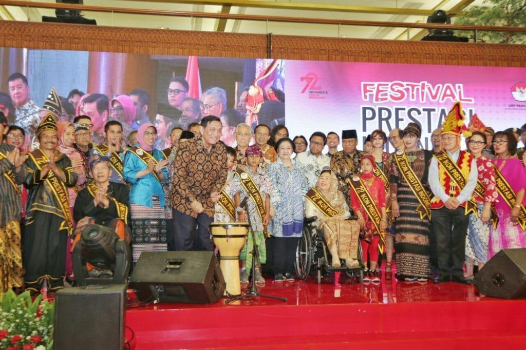 Menko Luhut Hadiri Pembukaan Festival Prestasi Indonesia Pancasila di JCC