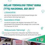 Gelar Teknologi Tepat Guna (TTG) Nasional XIX: Wujudkan Kemandirian dan Kesejahteraan Masyarakat Desa
