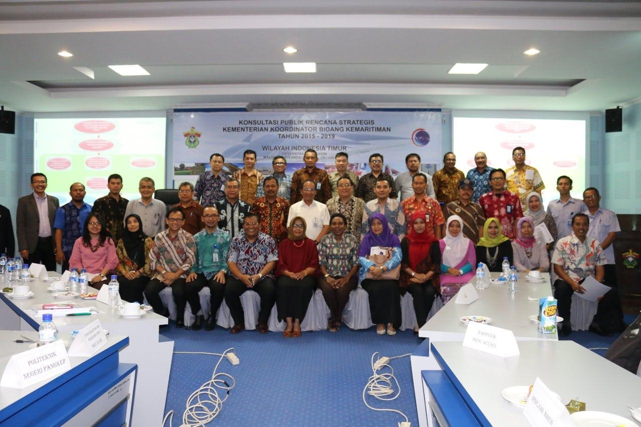 Guna Penyempurnaan Renstra 2015-2019, Kemenko Maritim Adakan Konsultasi Publik di Makassar