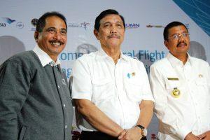 Menko Maritim Luhut B. Pandjaitan menghadiri Acara Inagural International Flight Garuda Indonesia Singapore - Silangit