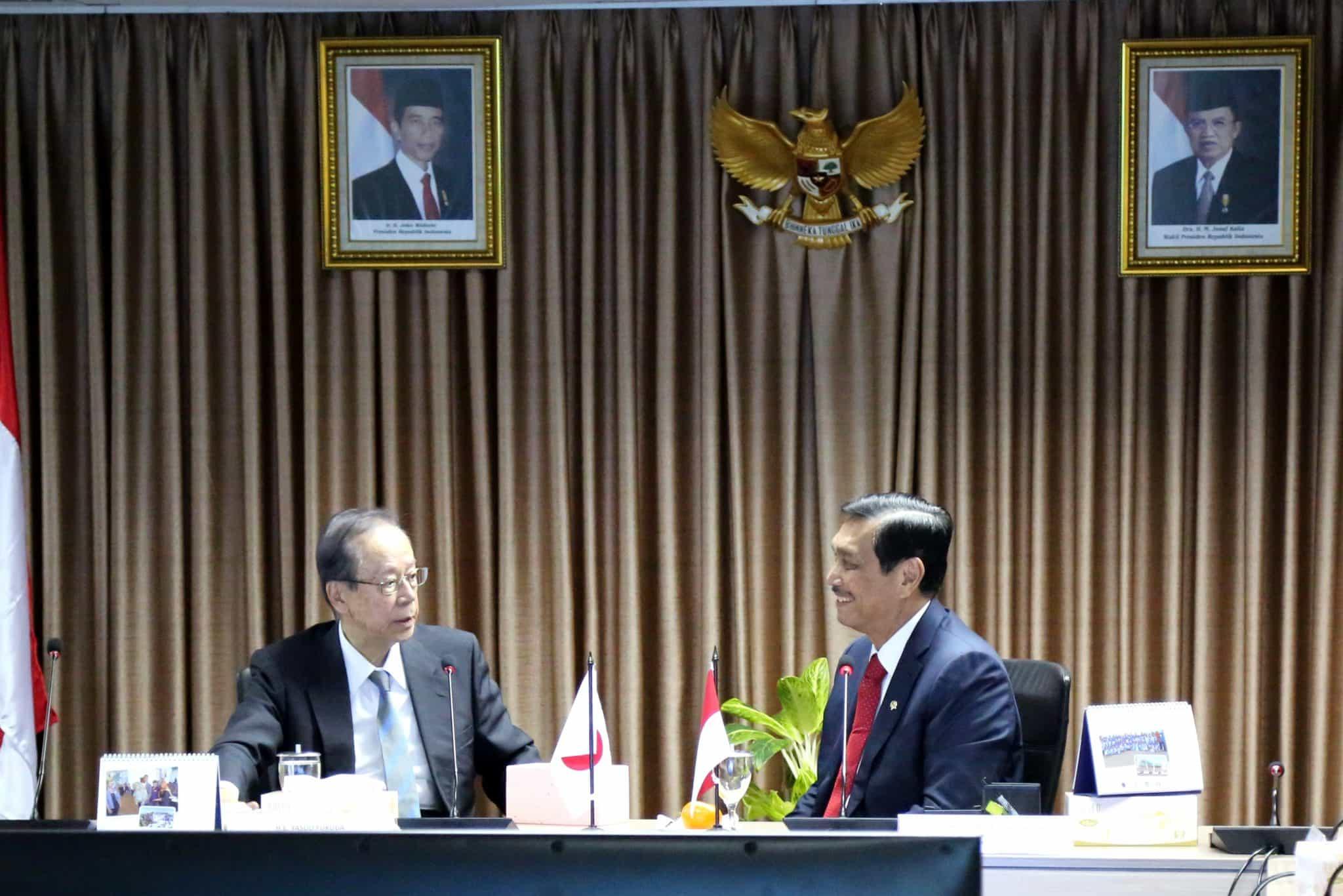 Menko Bidang Kemaritiman, Luhut B. Pandjaitan menerima Audiensi Former Prime Minister President, Japan Indonesia Association (JAPINDA)