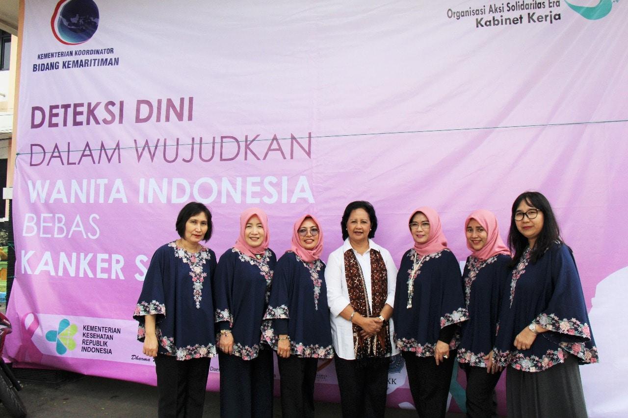 Wujudkan Wanita Indonesia Bebas Kanker Serviks dan Kanker Payudara, OASE dan DWP Kemenko Kemaritiman Adakan Acara Deteksi Dini Kanker