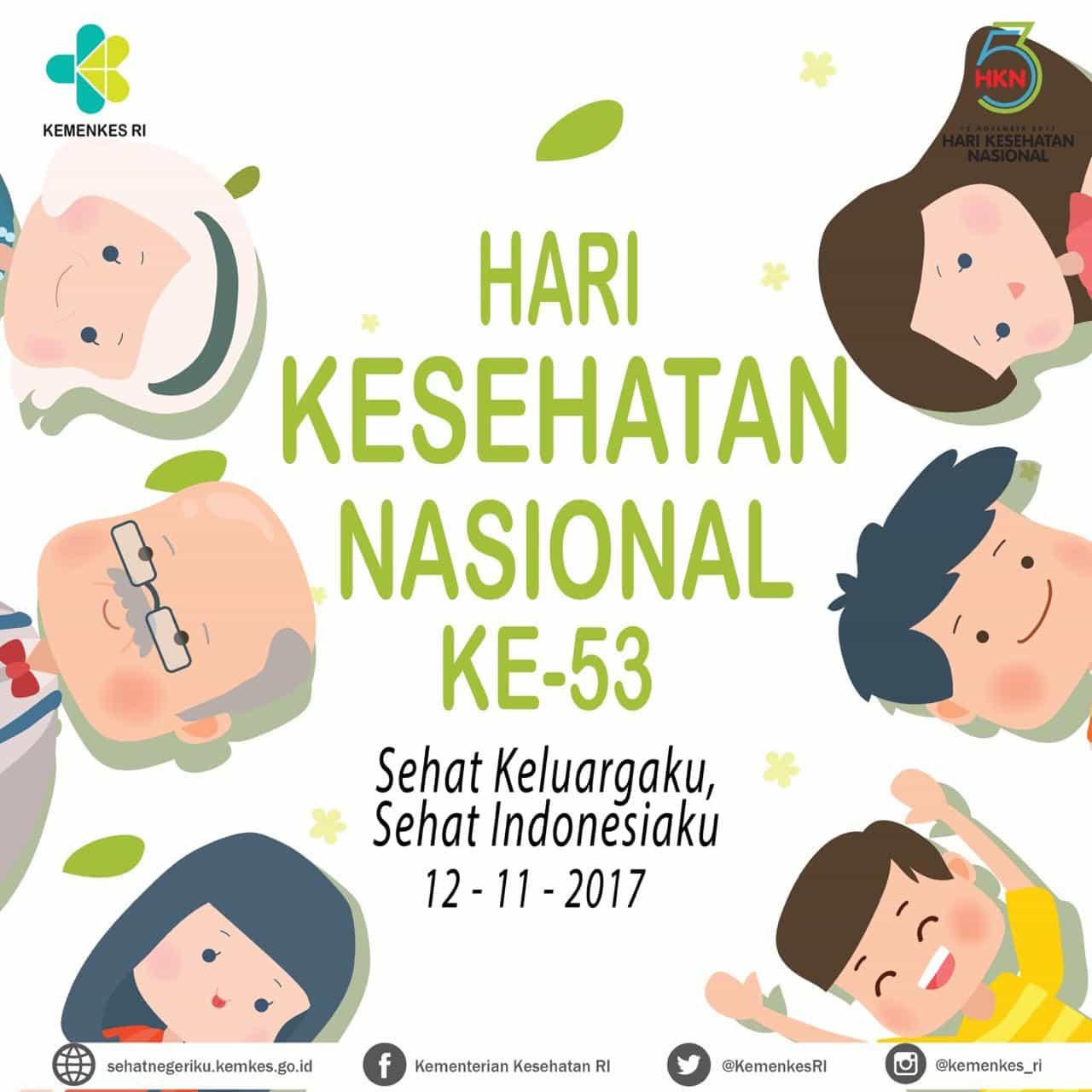 Selamat Hari Kesehatan Nasional (HKN) ke-53: Sehat Keluargaku, Sehat Indonesiaku