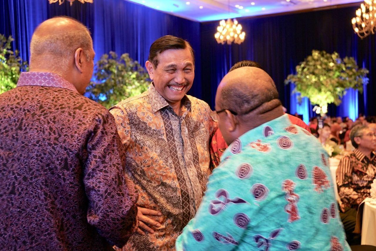 Menko Luhut Hadiri Pertemuan Tahunan Bank Indonesia di JCC