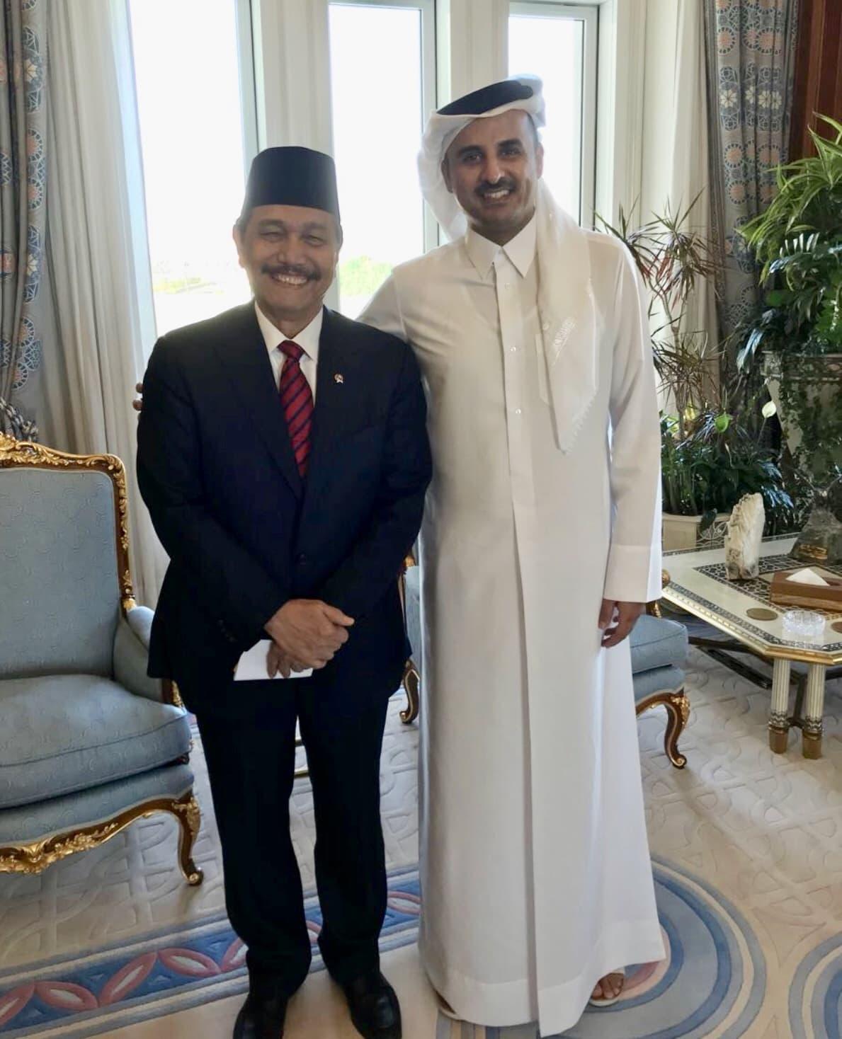 Pertemuan Terbatas Menko Luhut dengan Orang Nomor 1 di Qatar