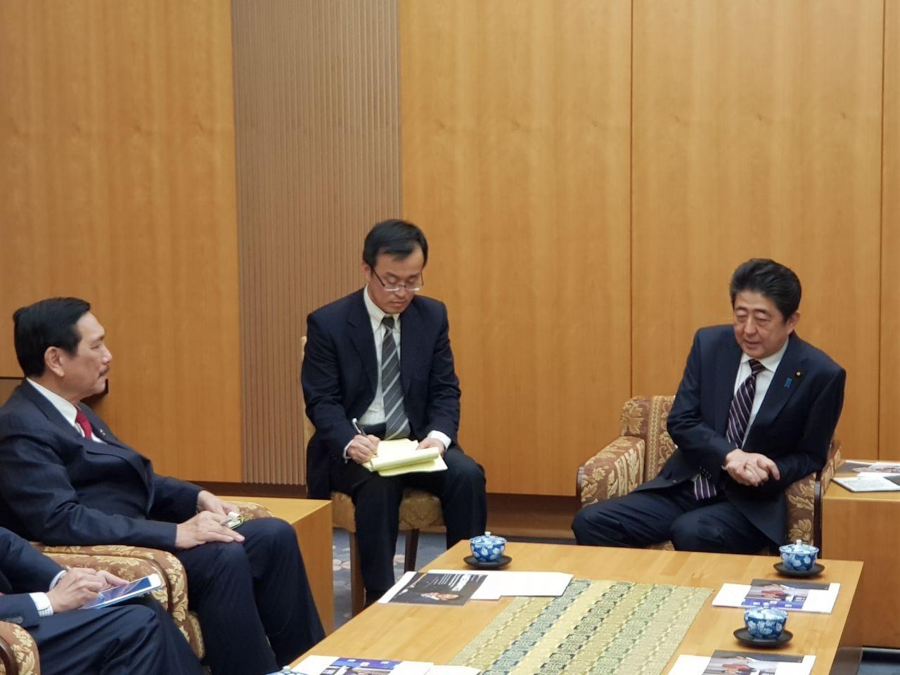 Bertemu Perdana Menteri Jepang, Menko Maritim Gali Berbagai Potensi Kerja Sama