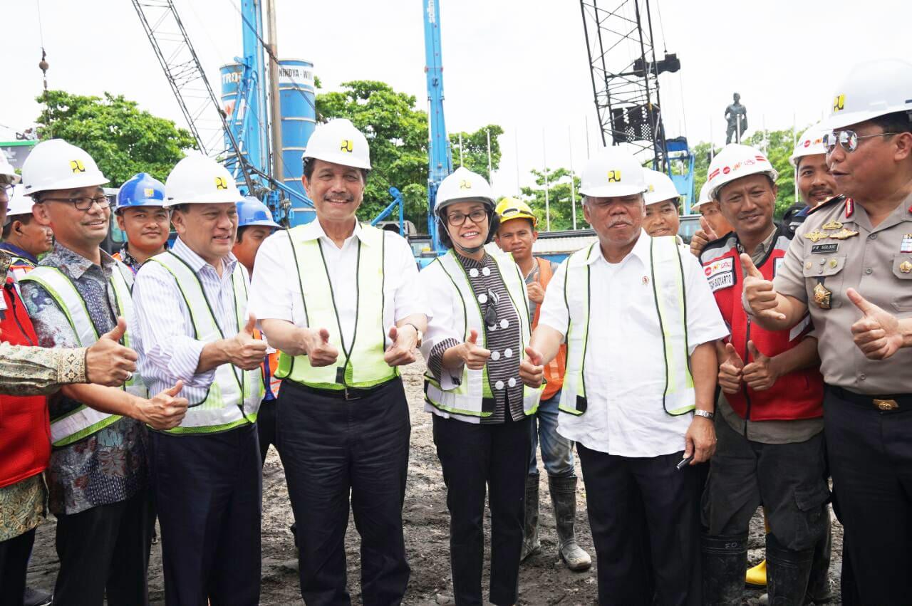 Menko Maritim Luhut Pandjaitan Tinjau Pembangunan Infrastruktur Persiapan Pertemuan Tahunan IMF-WB di Bali