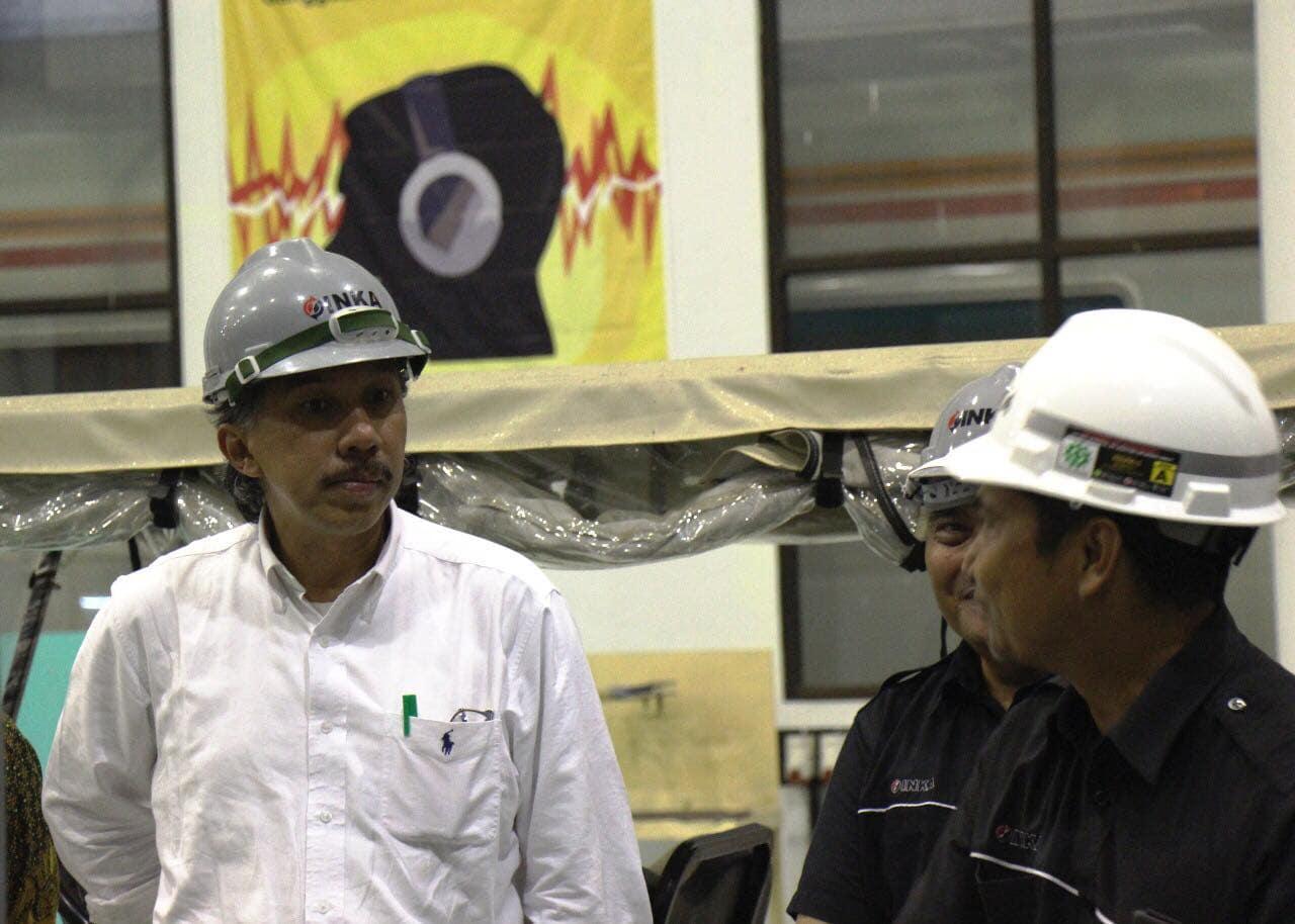 Deputi Bidang Infrastruktur Kemenko Maritim Meninjau PT INKA Madiun