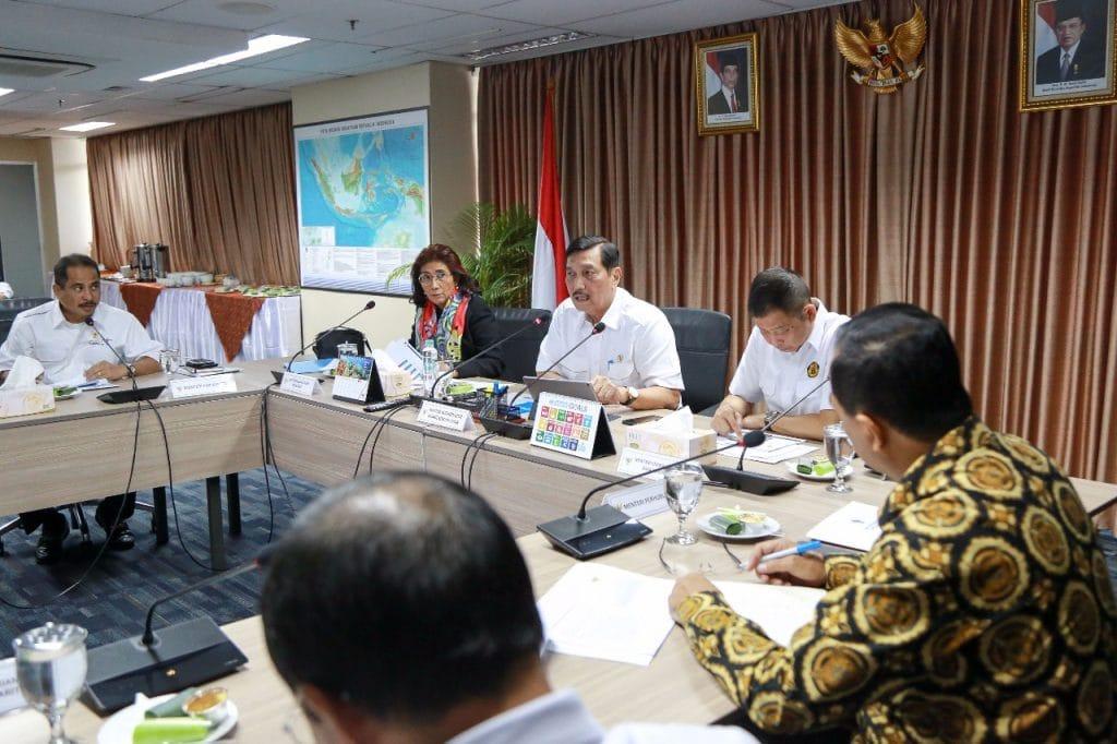 Menko Luhut Pimpin Rakor 4 Menteri di bawah Kemenko Bidang Kemaritiman
