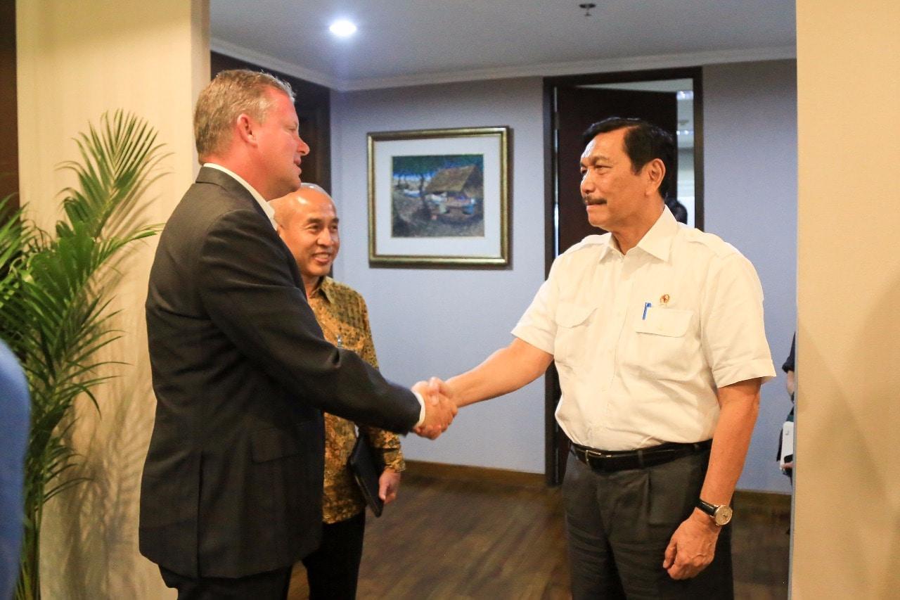 Menko Luhut Rapat dengan Vice President Sustainability, ExxonMobil Chemical Company