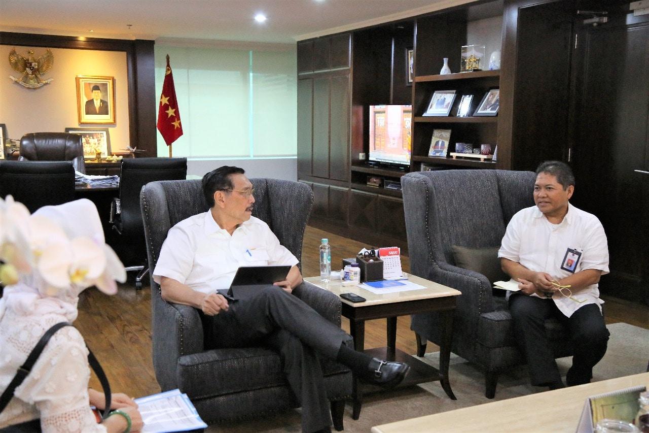 Menko Luhut Meeting dengan Dwikorita Karnawati (Kepala BMKG)
