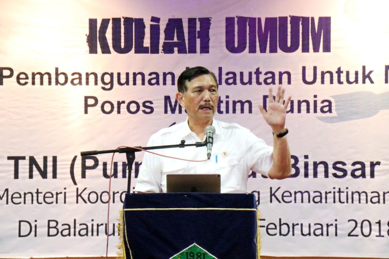 Tiba di Universitas Bung Hatta Padang Menko Luhut Berikan Kuliah Umum