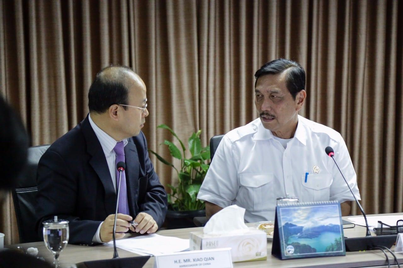 Menko Luhut Rapat Pengembangan Koridor Ekonomi Sektor Kemaritiman dan Belt and Road Initiative