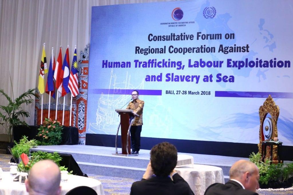 Kemenko Maritim gandeng ILO dalam Forum Regional Mengatasi Perdagangan Manusia, Eksploitasi Tenaga Kerja dan Perbudakan di Laut