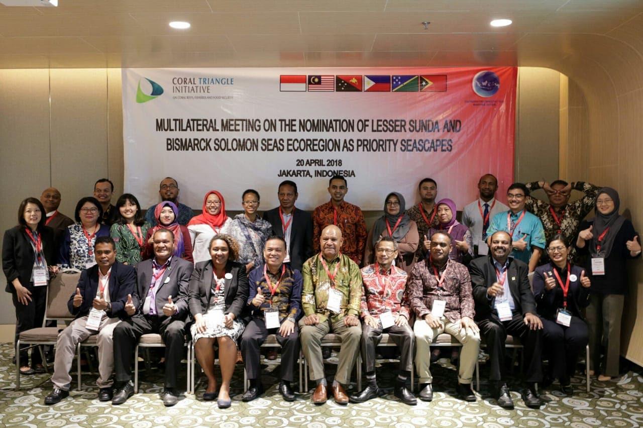 Indonesia, Papua Nugini, Solomon Island dan Timor Leste Kerja Sama Nominasikan Sunda Kecil dan Bismarck Solomon Sebagai Bentang Laut Prioritas