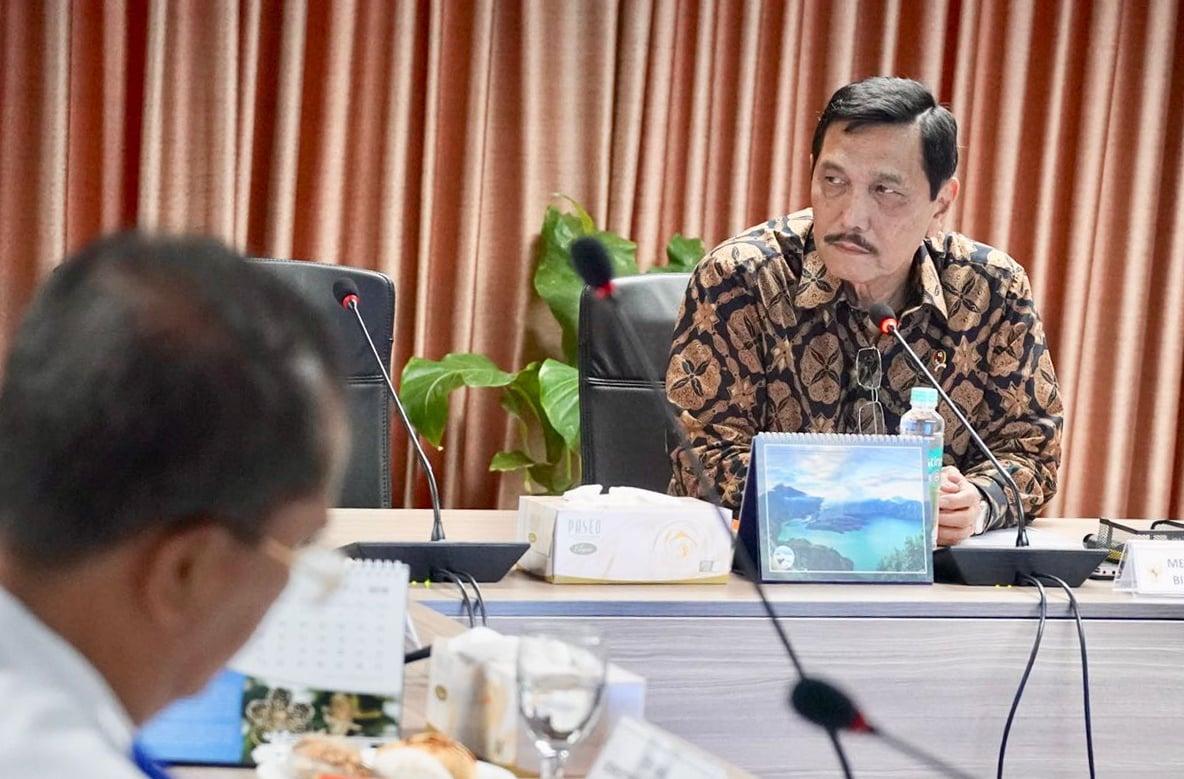 Ditemani Deputi Ridwan, Menko Luhut Kembali Bahas Lanjutan Rakor LRT