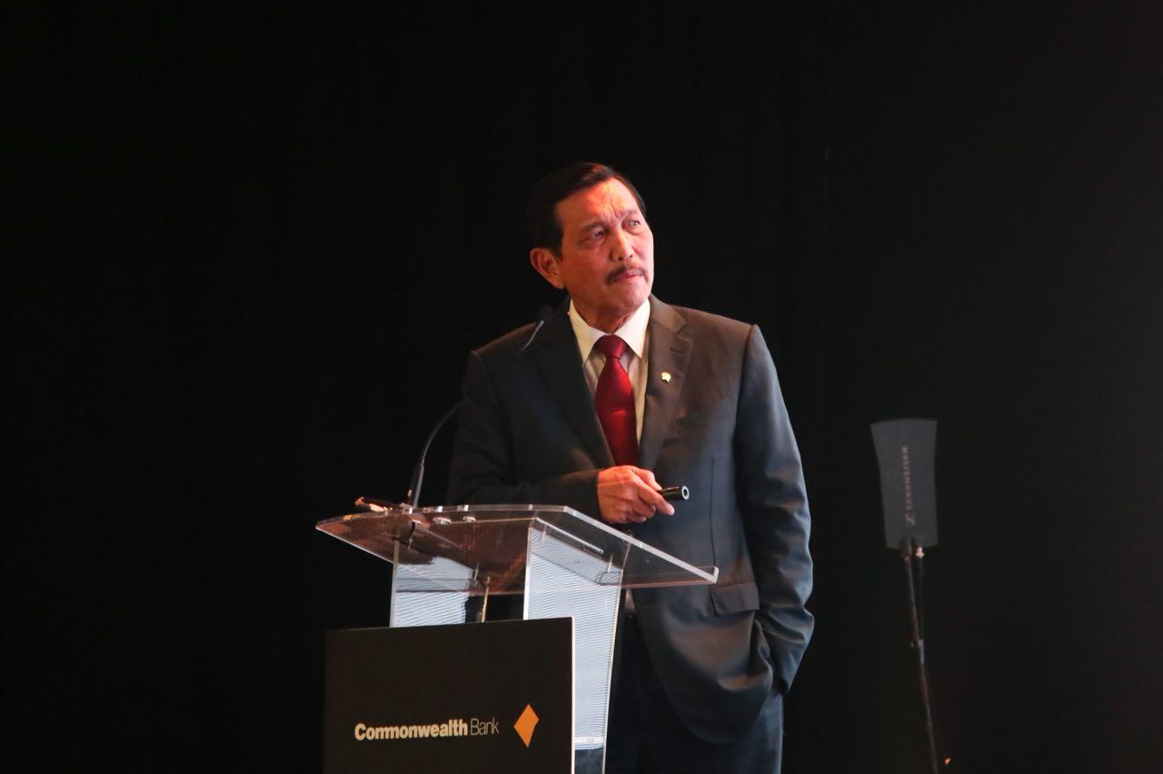 Keynote Speaker Menko Luhut Pada acara Market Outlook 2018 PT Bank Commonwelth