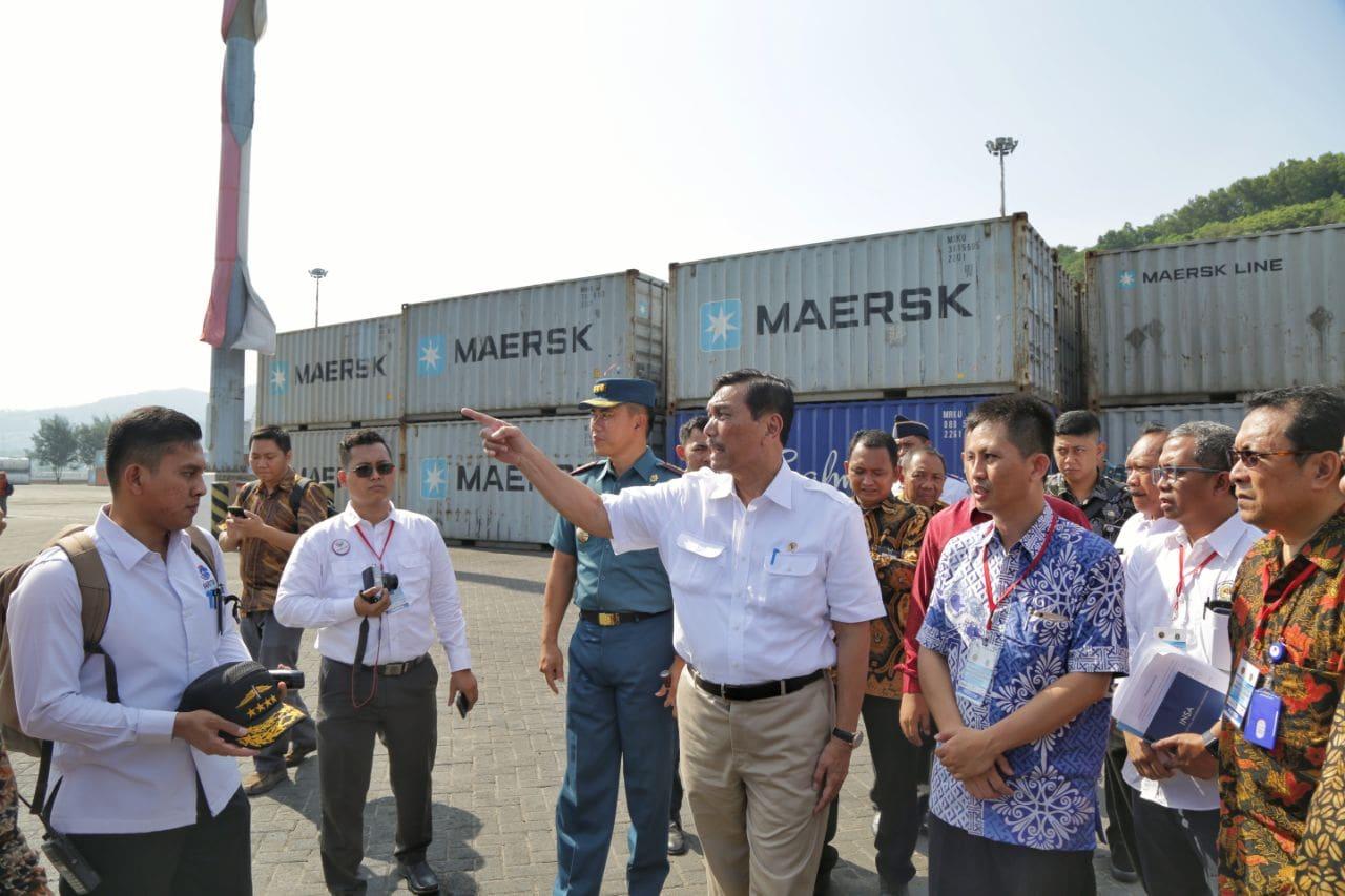 """Menko Luhut: """"Akses Ekspor Impor Pelabuhan Banten Dibuka Demi Efisiensi"""""""