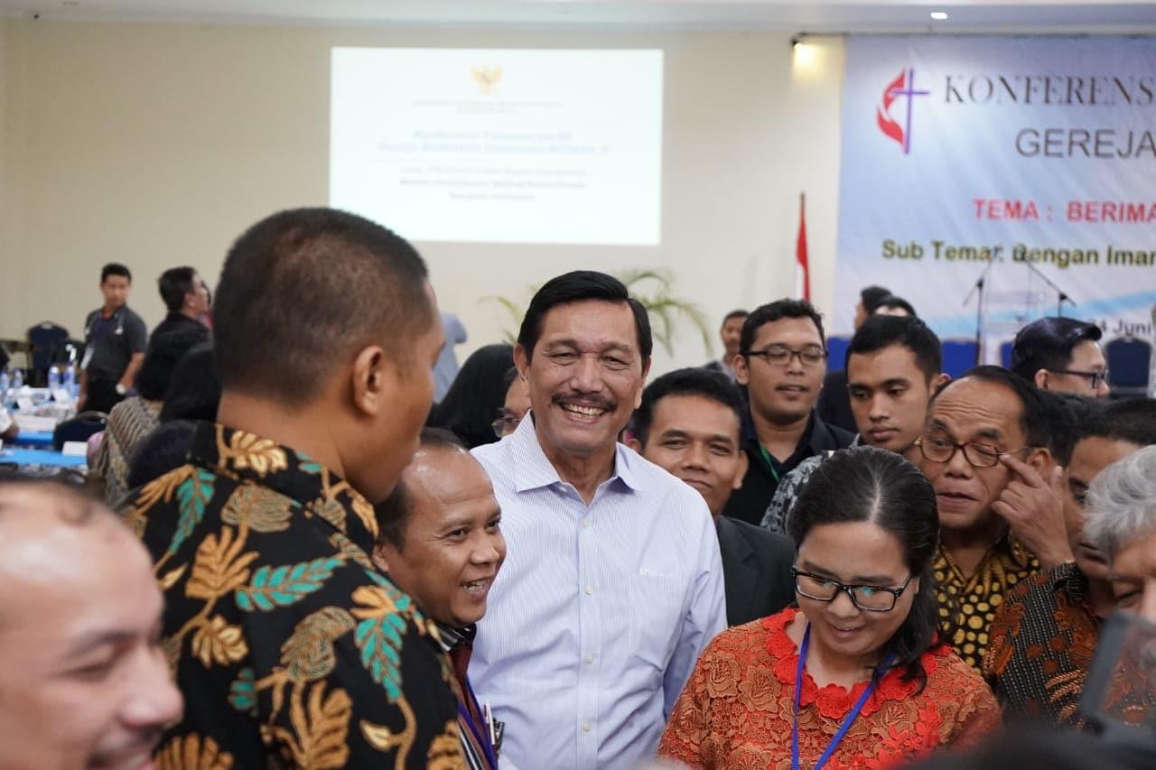Menko Luhut Hadiri Konferensi Gereja Metodist Indonesia