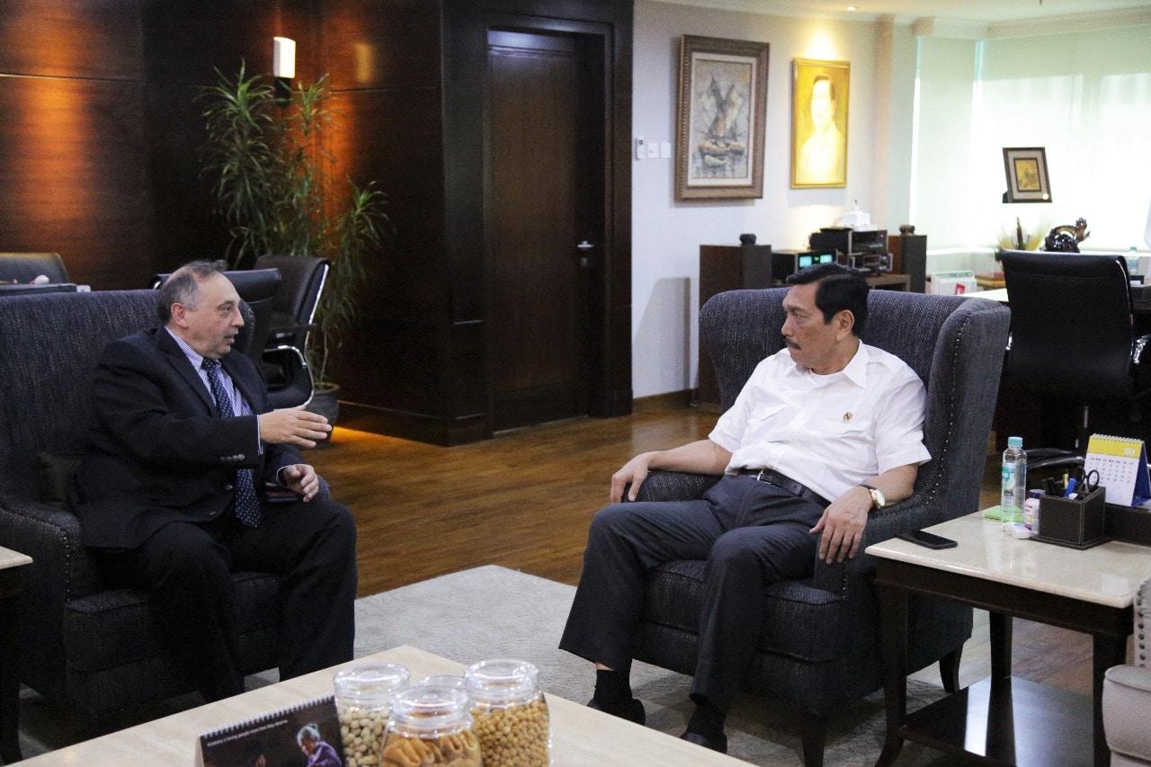 Menko Luhut Meeting Bersama Mr.Fabrizio Trilli (CEO ENI/Ente Nazionale Idrocarburi-Italy)
