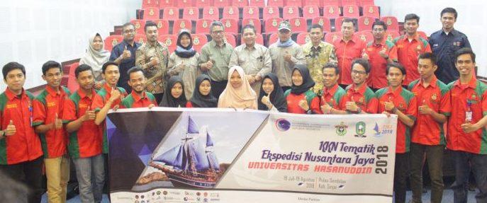 Kemenko Maritim Resmi Lepas Tim Ekspedisi Nusantara Jaya 2018 Universitas Hasanuddin
