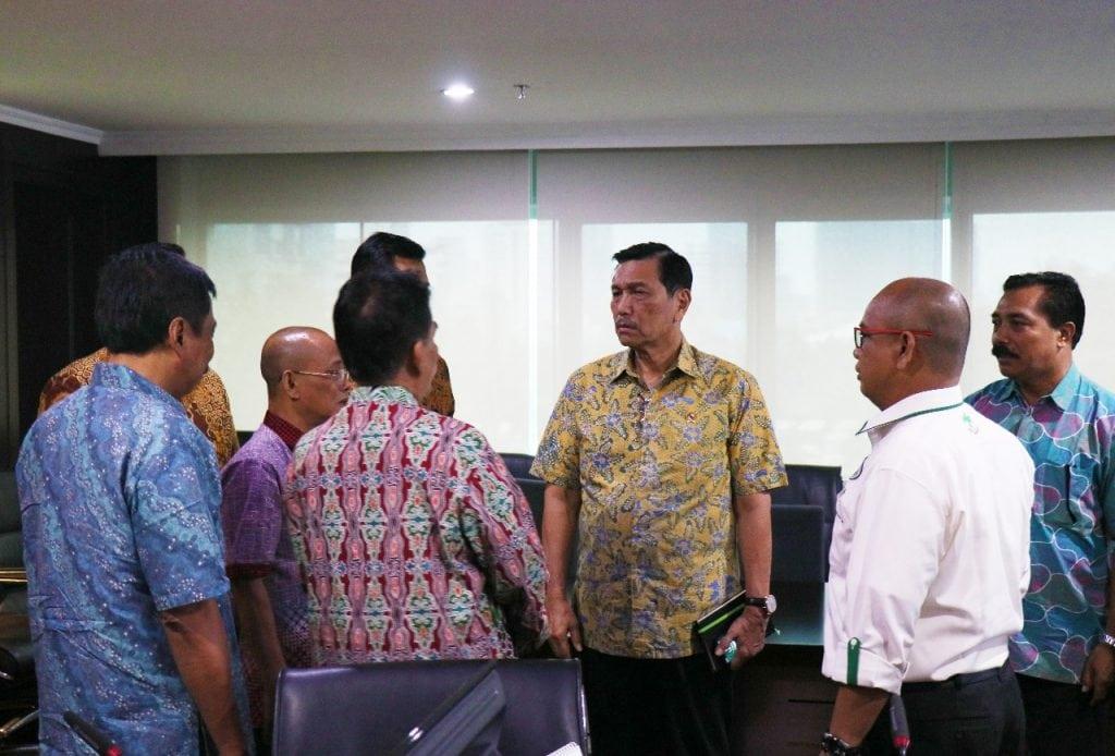 Bersama Ketua Harian Apkasindo, Amin Nugroho Menko Luhut Bahas Soal Sawit
