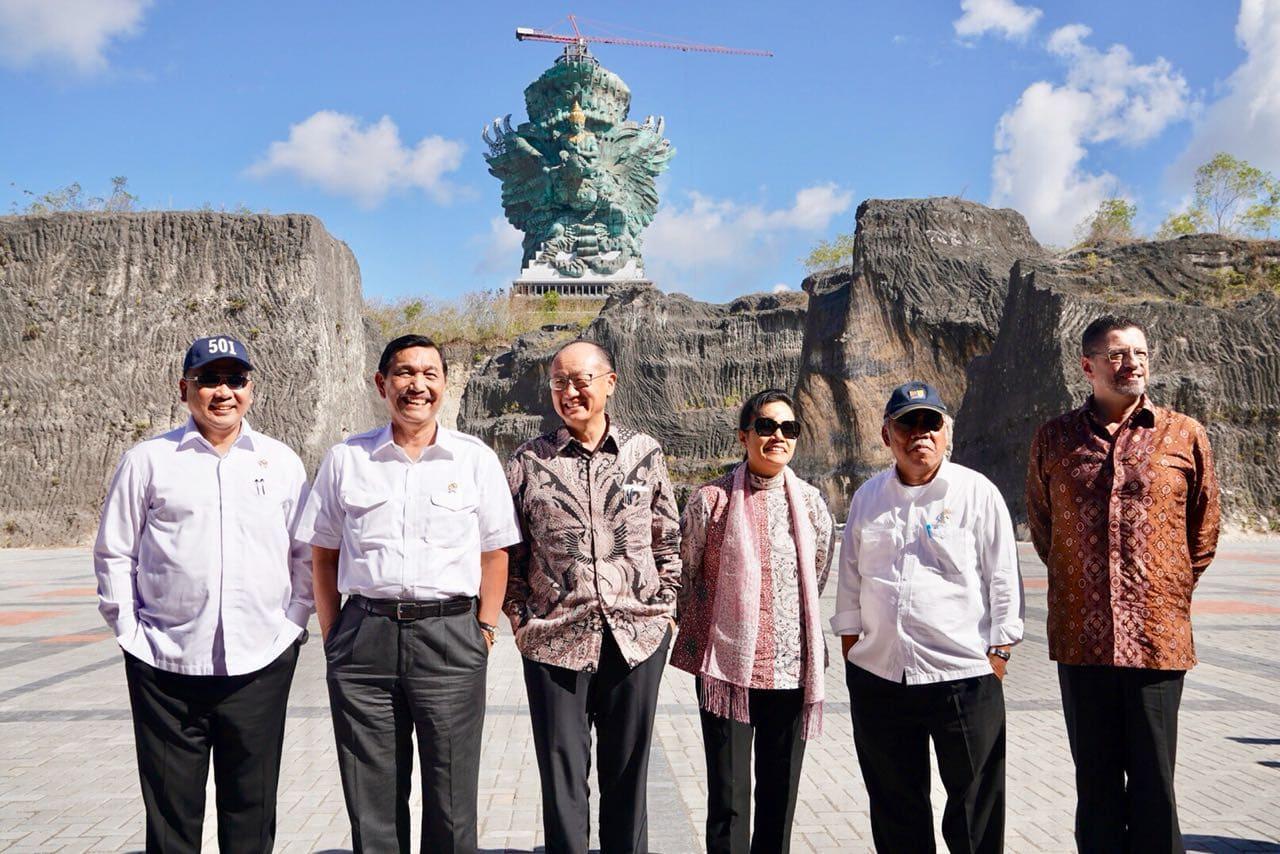 Menko Luhut Dampingi Presiden IMF-WB Tinjau Pembangunan GWK dan BNDCC Bali