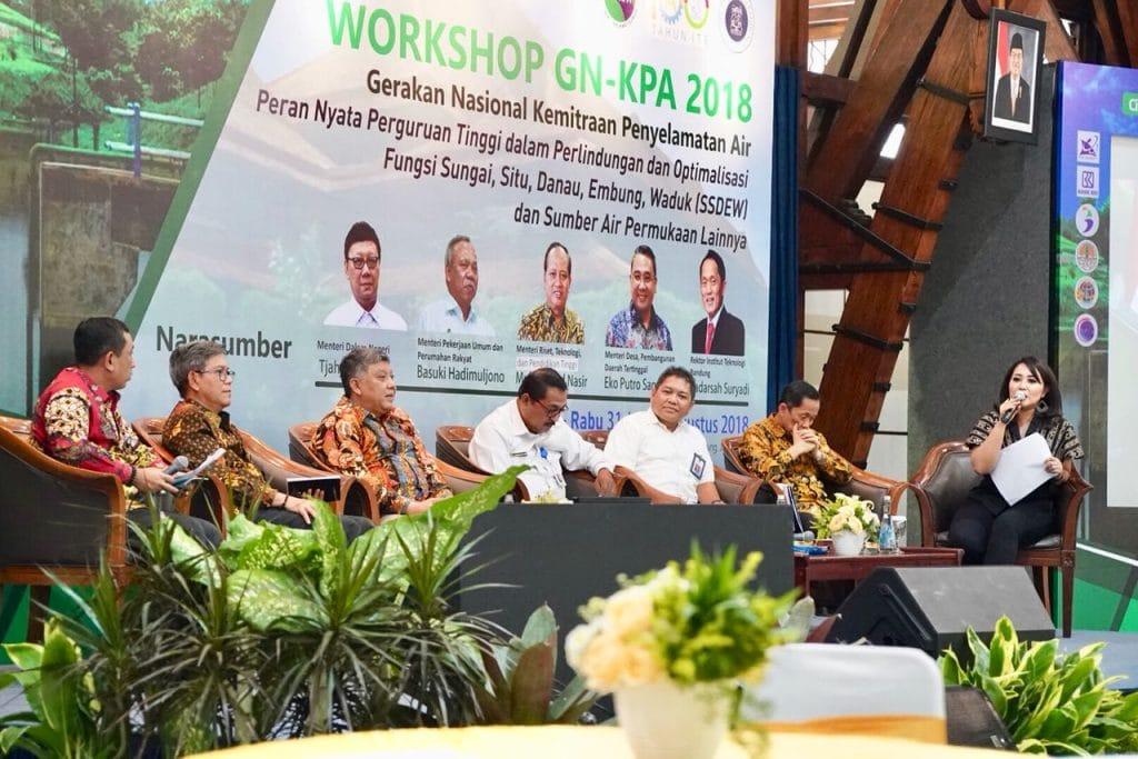 Deputi Safri Menghadiri Workshop Gerakan Nasional Kemitraan Penyelamatan Air (GN-KPA 2018)