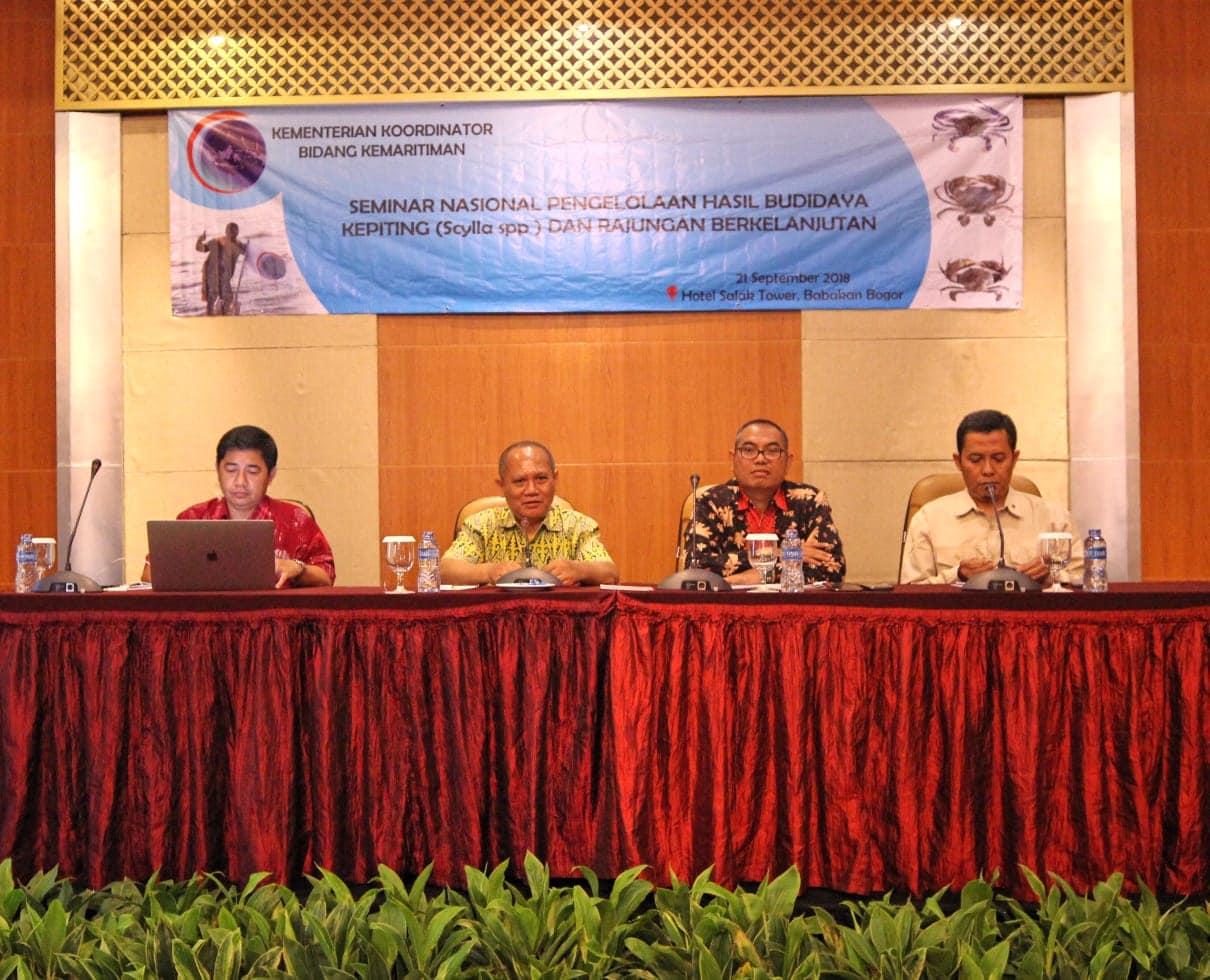 Seminar Nasional Pengelolaan Hasil Budidaya Kepiting (scylla spp) danRajungan Berkelanjutan