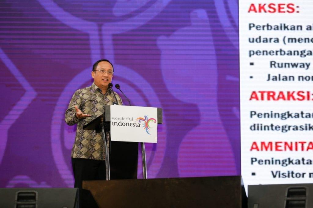 Hadiri Rakornas Pariwisata, Sesmenko Agus Tegaskan Pentingnya Turis dalam Investasi di Indonesia