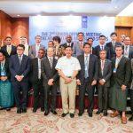 Menko Luhut berfoto bersama dengan delegasi peserta SOM AIS 2 di Jakarta, 7 September 2018