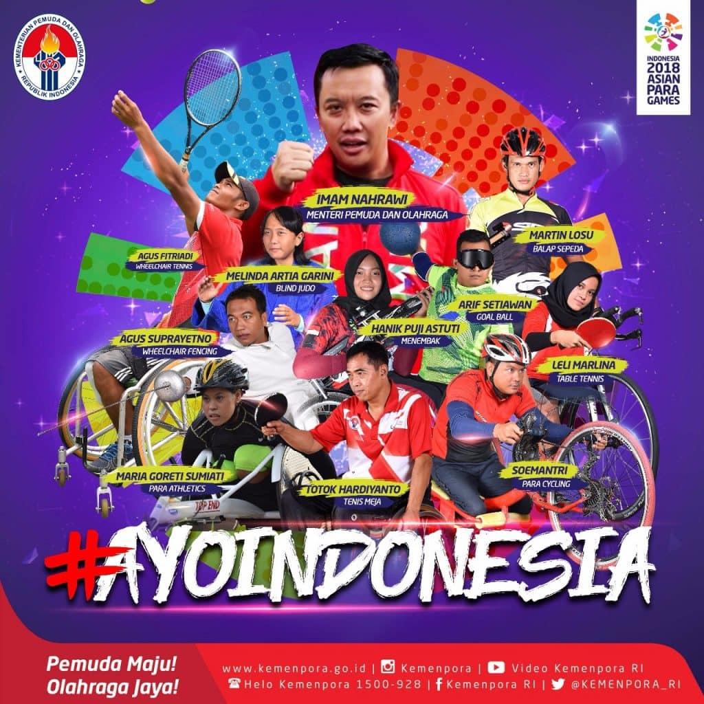 Ayo Dukung Tim Indonesia Berlaga di Asian Para Games 2018