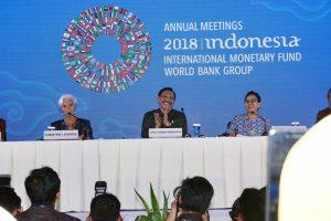 Menko Luhut menghadiri Closing Presscon AM IMF-WBG 2018