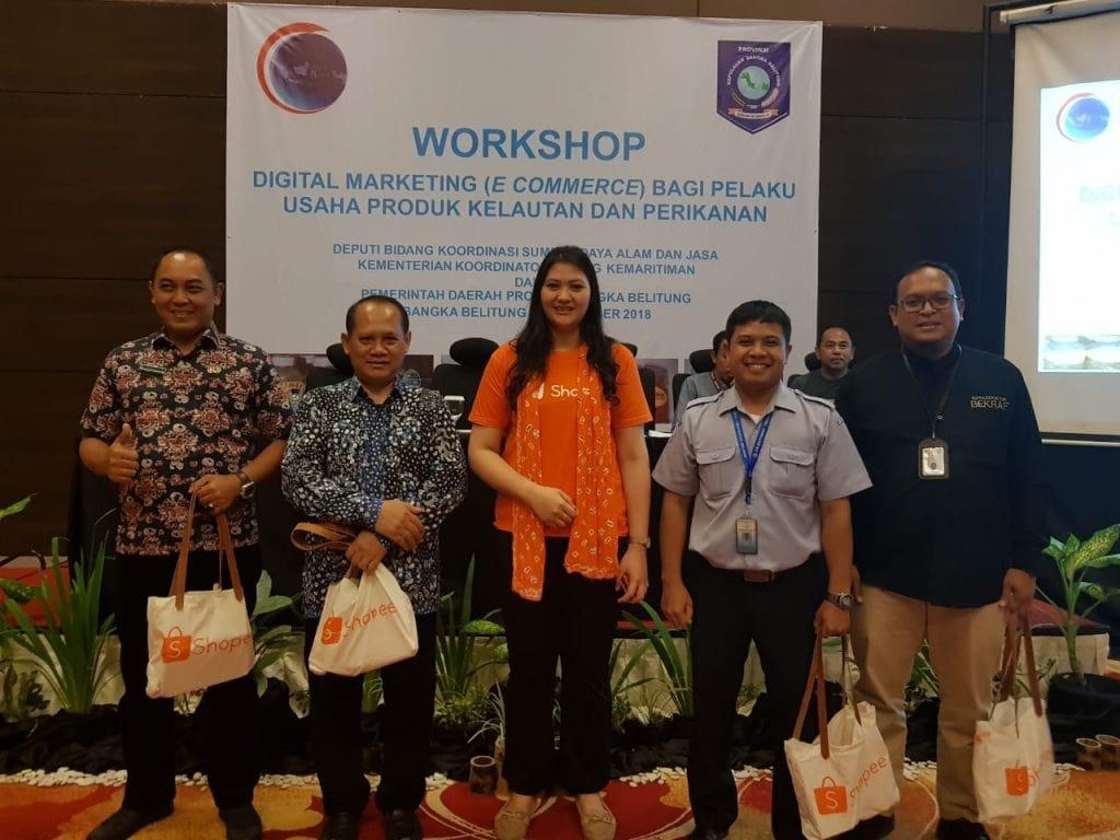 Workshop Digital Marketing (e commerce) bagi Pelaku Usaha Produk Kelautan dan Perikanan