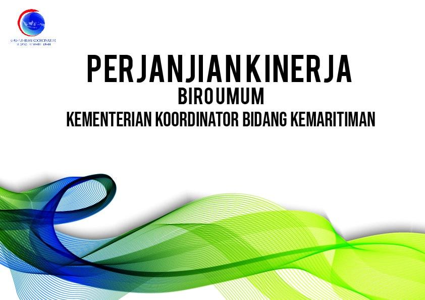 Perjanjian Kinerja Biro Umum Kementerian Koordinator Bidang Kemaritiman 2018